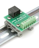 APRS6595: RJ-25 (6P6C) to Screw Terminals, DIN rail mountable
