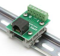 APRS6595: RJ-25 (6P6C) to Screw Terminals, DIN rail mountable