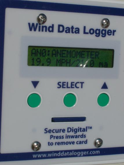Initial readings from the Polar Edition Wind Data Logger.
