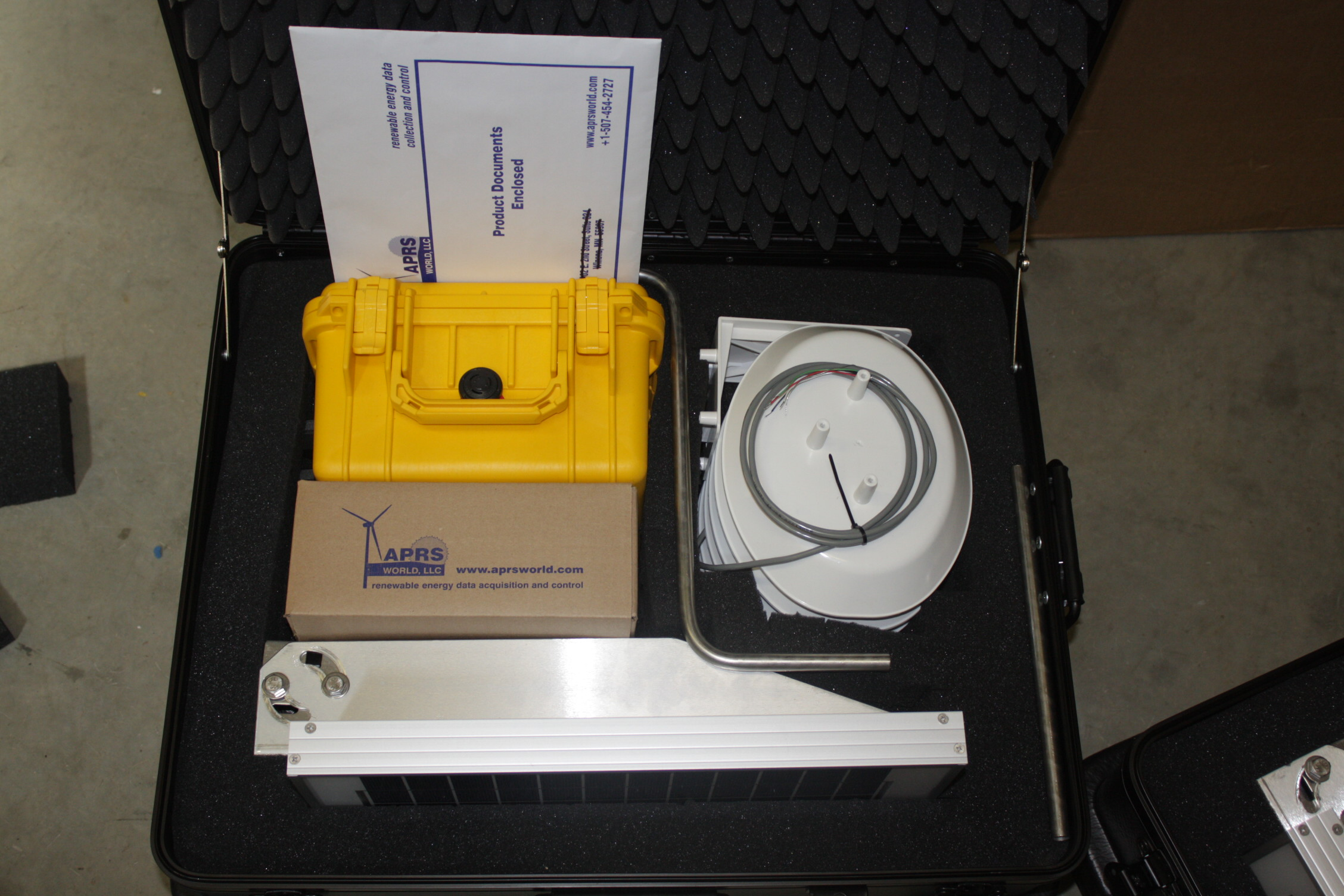 Solar Self-Contained system packaged in custom ATA Case.