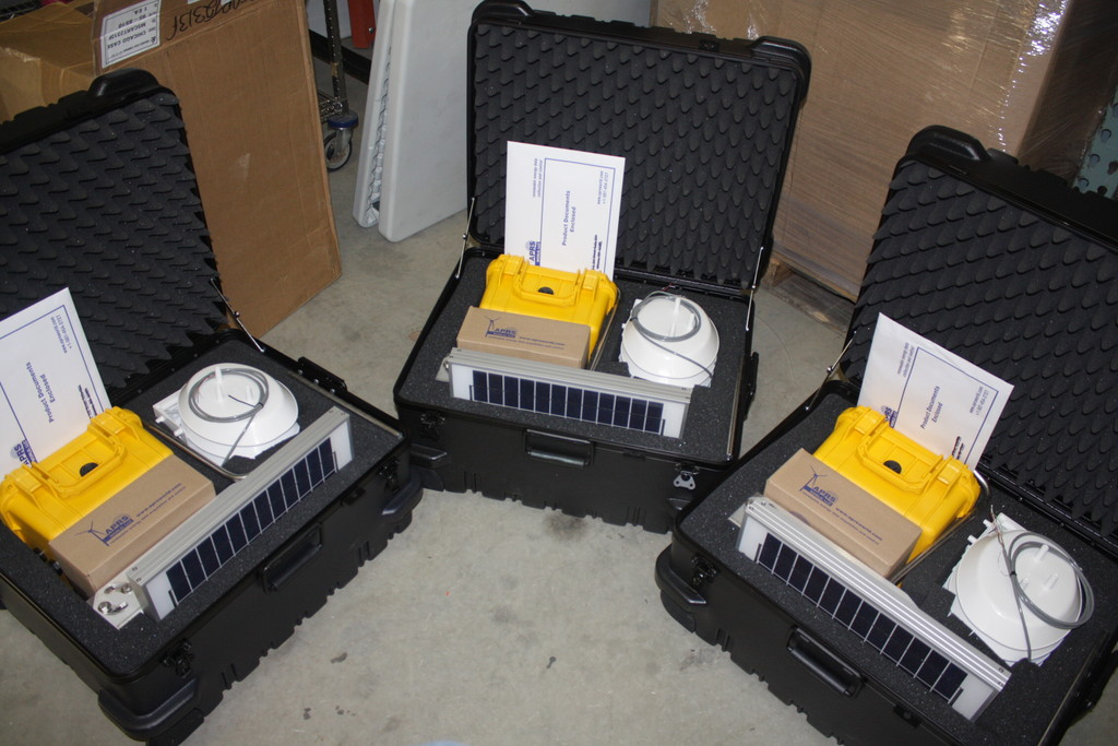 Three Solar Self-Contained systems in ATA Cases.