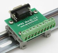 APRS6593: DB9F to Screw Terminals, DIN rail mountable