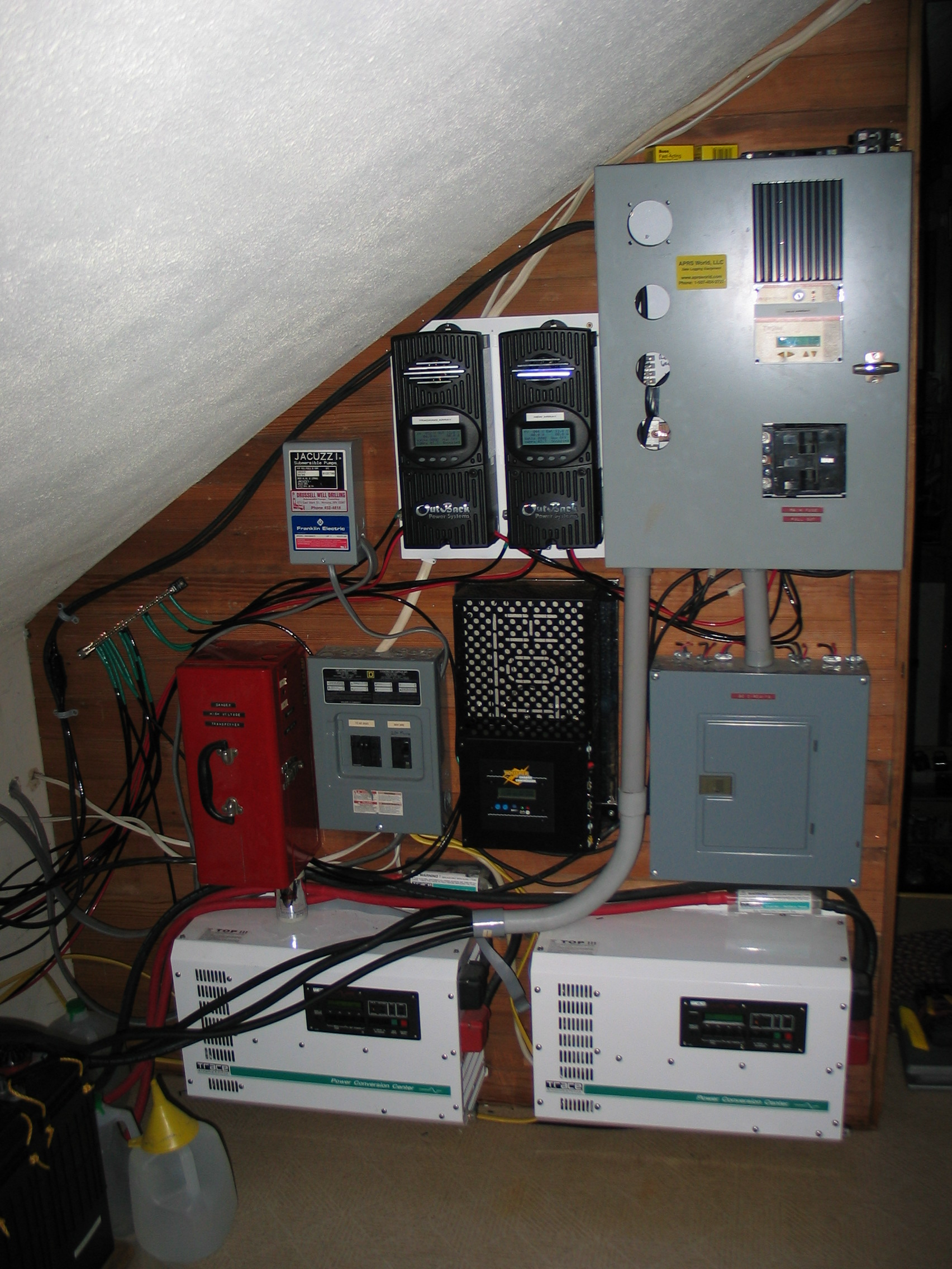 Aprs Worlds Gallery Hybrid Solar And Wind Off Grid System In Home Wiring Systems Inverters Controllers This