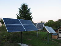 Highlight for Album: Hybrid solar and wind off-grid system in Winona, MN