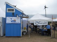 APRS World's s-kid and Chinook Turbines' booth