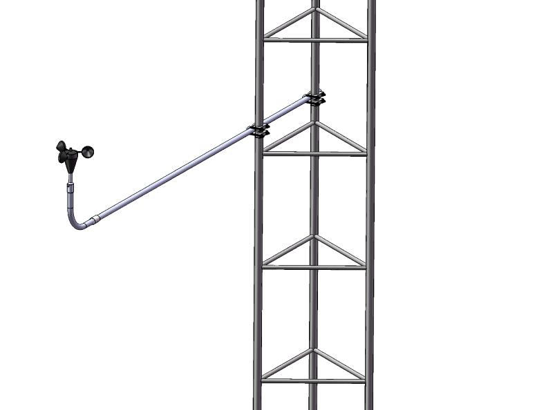 Rigid Boom on Guyed Lattice Tower