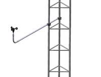 Rigid Boom on Guyed Lattice Tower