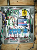 Custom panel for wind turbine performance evaluation. Measures DC voltage and current, AC energy and power, and wind speed.