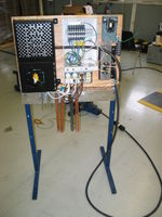 Hand controlled load board. As pictured, it uses the hot water heating elements.