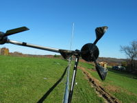 Anemometer and wind vane.