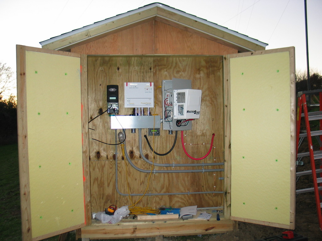 The power shed is well built and very well insulated.