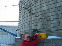 A January 2007 site visit. It was 0F outside. Brr...