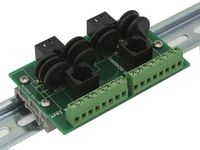 Lightning Arrestor Breakout Board, DIN rail mountable