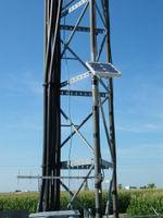 Solar panel and 900 MHz yagi.