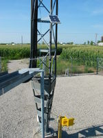 Solar panel, yagi, and wind data logger.
