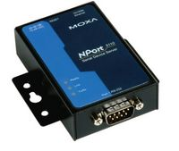 Moxa NPort 5100 serial to ethernet server for Internet enabling the Production Data Logger.
