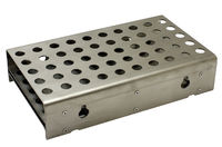 APRS9203: Reduced shank drill bit stand, silver deming, heavy duty for 50 drill bits, Stainless Steel