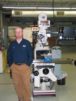 James Jarvis in front of the new 3-axis CNC mill.