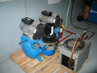 eBay special air compressor. This is a $6,500 dental air compressor. The previous owner hooked the 230 volt compressor 120 voltages and damaged it. We purchased it on eBay for a bargian price and are in the process of repairing it and putting it online.