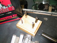 "Counterbore set for #6, #8, #10, 1/4"" socket head cap screws. And a sufficiently large base."