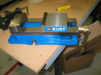 "Kurt Anglock D675 6"" milling vise. It's really heavy and really nice."