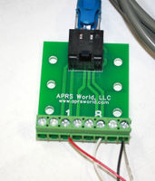 Connecting insolation sensor to RJ-45 breakout board and wind data logger.