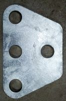 """APRS6616: Tower Load Equalizing Plate, 3 hole, 1/4"""" steel"""