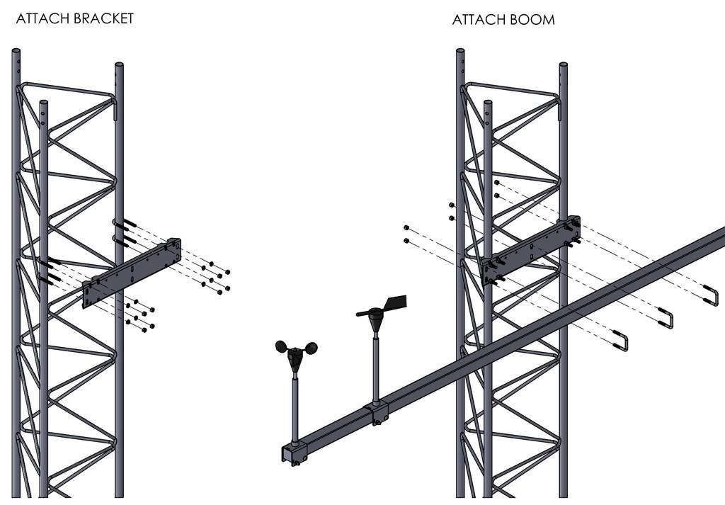 45G Boom Bracket Assembly Illustration