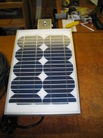 10 watt solar panel on pole / wall mount.