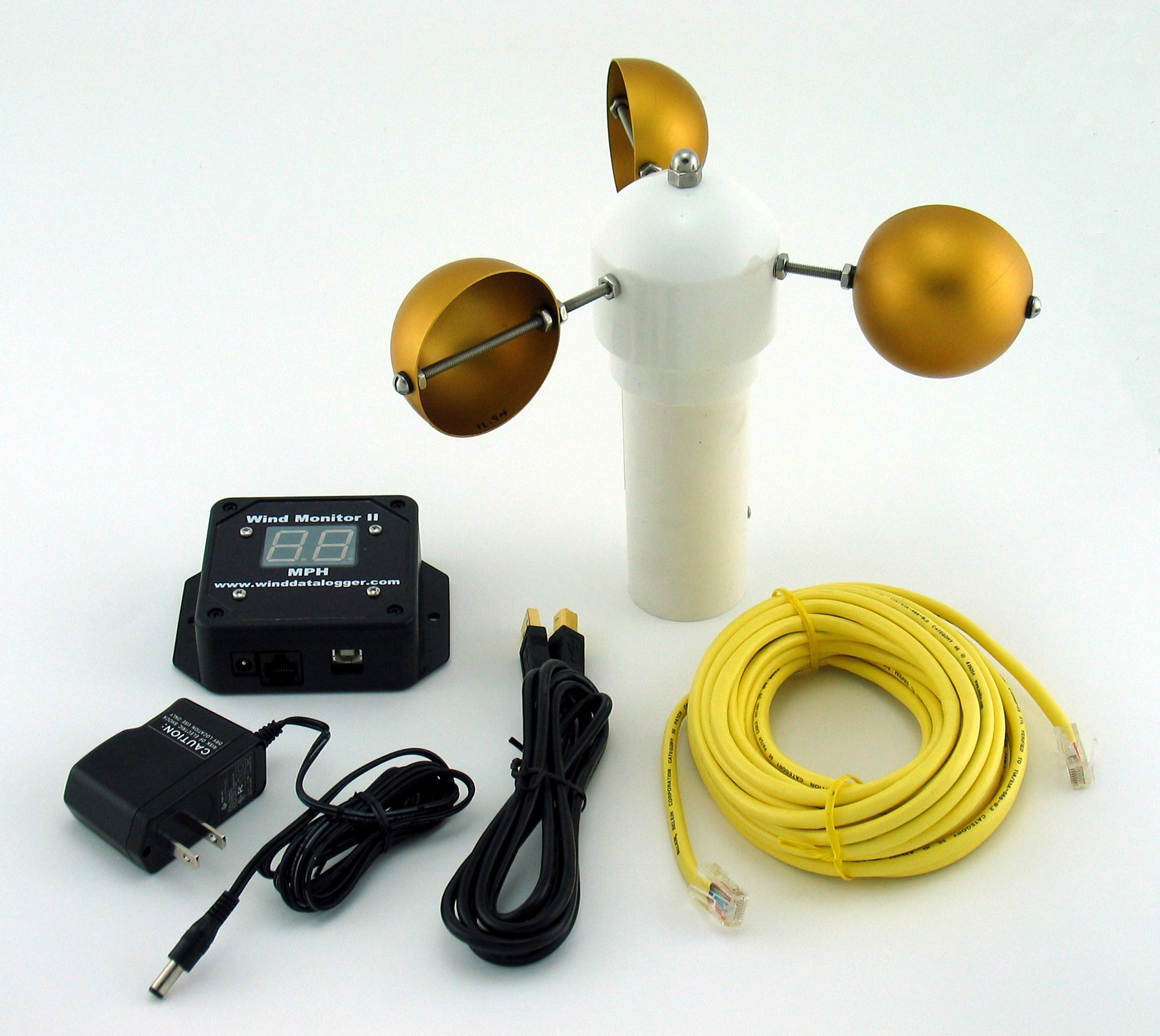 Wind Monitor II package with AC adapter, USB. (APRS6121)