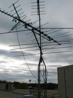 Zion Benton Township High School: An old broadcast TV antenna mast on the roof was converted to mount the weather station.